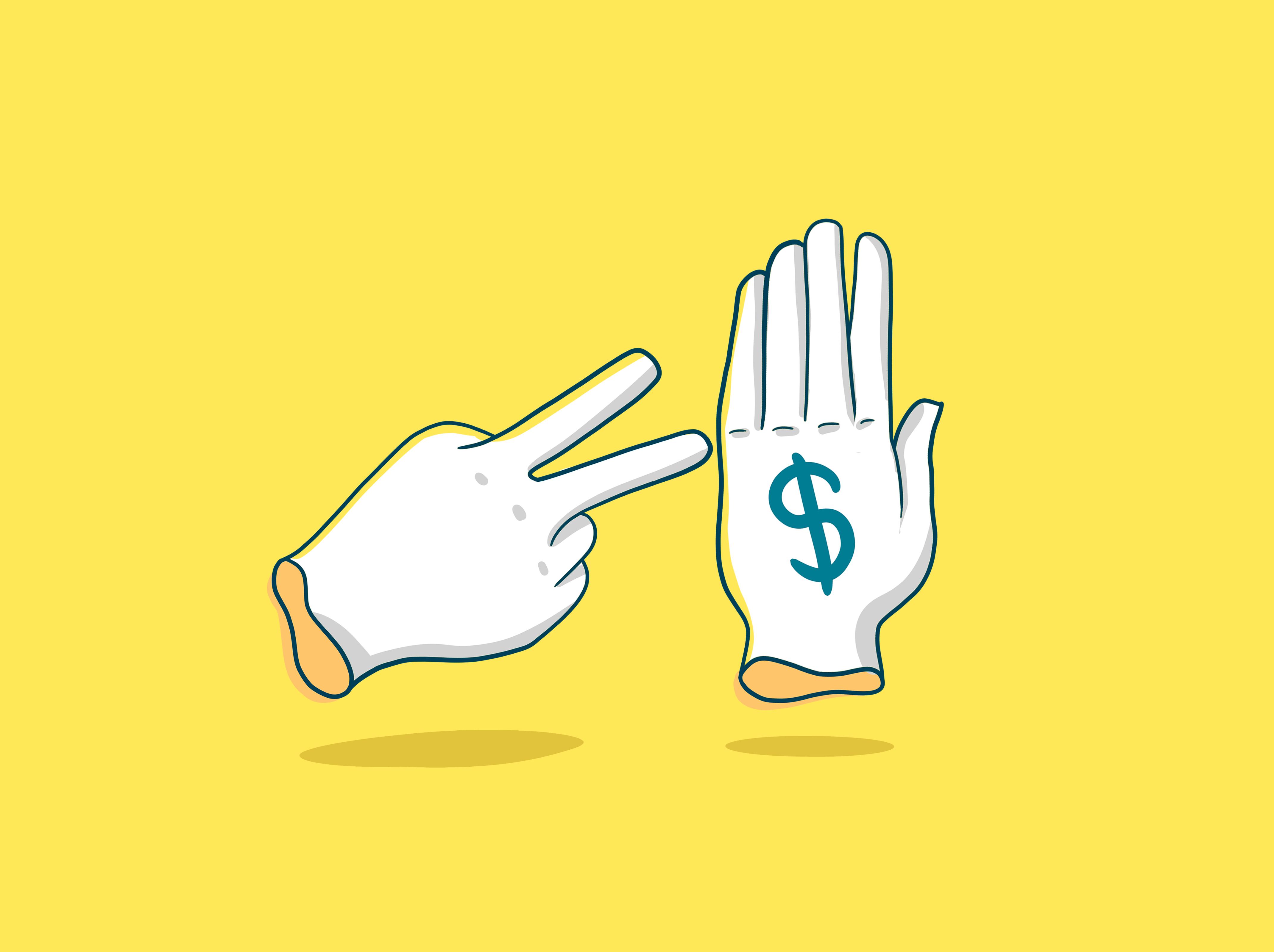 ilustração de mãos